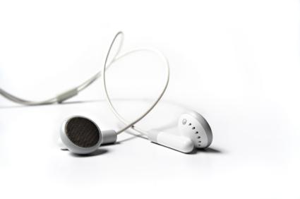 white earphones